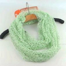 Ажурный снуд (зеленый)