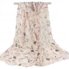 Тонкий шарф в стиле поп-арт (розовый)