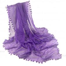 Платок с кисточками (фиолетовый)