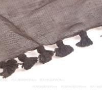Платок с кисточками (коричневый)