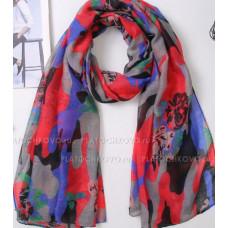 Камуфляжный шарф с цветами (розовый)