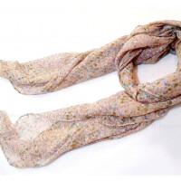 Пёстрый шарфик (бежевый)