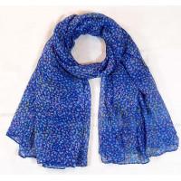 Пёстрый шарфик (синий)