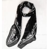 Шарф с завитым орнаментом (черный)