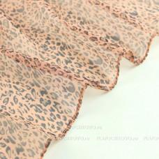 Тонкий шарф с мелким леопардовым принтом (оранжевый)