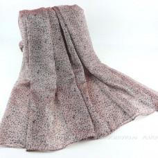 Тонкий шарф с мелким леопардовым принтом (розовый 06)