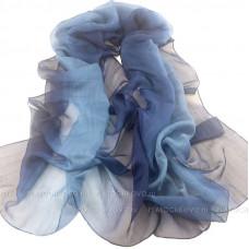 Шарф с градиентным окрасом (синий)