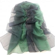 Шарф с градиентным окрасом (зеленый)