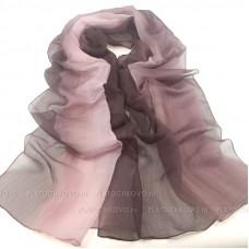 Шарф с градиентным окрасом (розовый)
