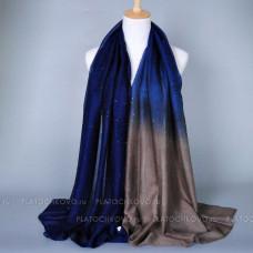 Шарф с градиентным окрасом и блеском (синий)