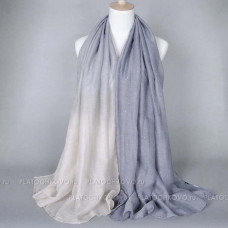 Шарф с градиентным окрасом и блеском (серый)