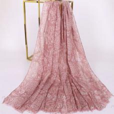 Шарф  с украшением из паеток (розовый)