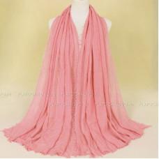Шарф жатый с бахромой (розовый, 83)