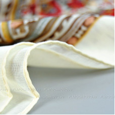 """Тонкий шарф """"Изысканный орнамент"""" (кремовый)"""