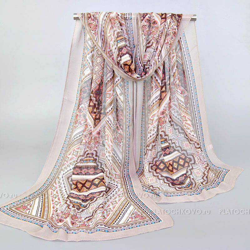 """Тонкий шарф """"Изысканный орнамент"""""""