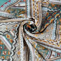 """Тонкий шарф """"Изысканный орнамент"""" (бирюзовый 03)"""