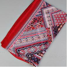 """Тонкий шарф """"Изысканный орнамент"""" (красный)"""