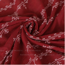 Шарф с имитацией вышивки крестом (бордовый)