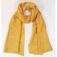Шарф-палантин теплый однотонный (желтый)